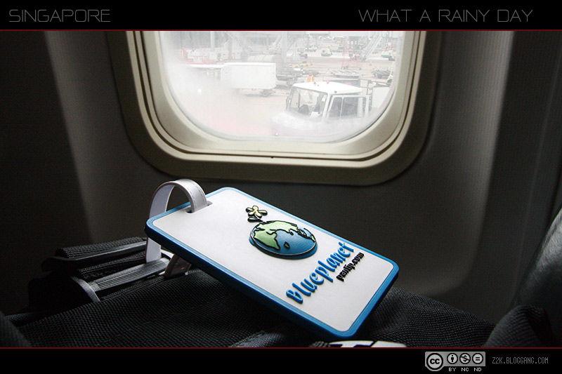 เครื่องลงจอดที่สนามบินชางฮี